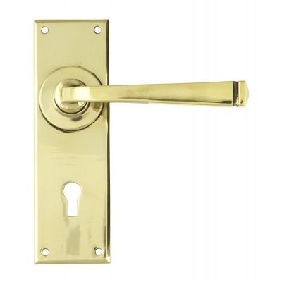 Aged Brass Avon Lever Lock Set
