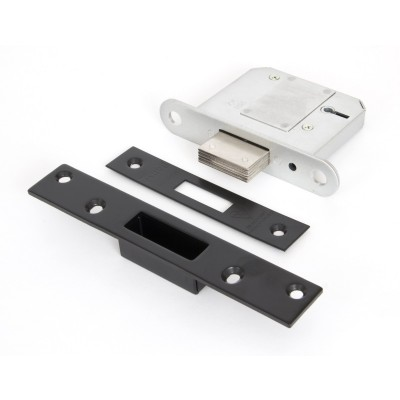 Black 3'' BS 5 Lever Deadlock