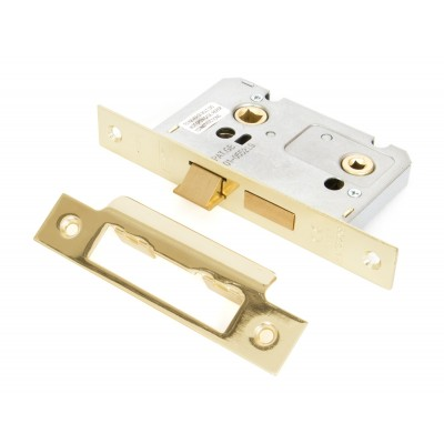 "Electro Brass 2 1/2"" Bathroom Mortice Lock"