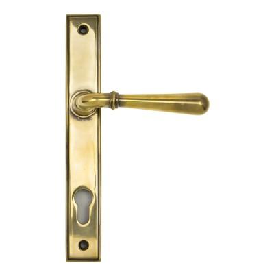 Aged Brass Newbury Slimline Lever Espag. Lock Set