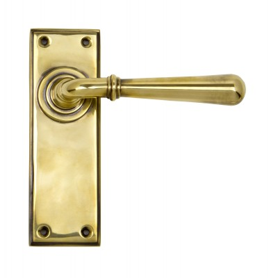 Aged Brass Newbury Lever Latch Set