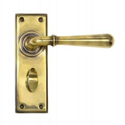 Aged Brass Newbury Lever Bathroom Set