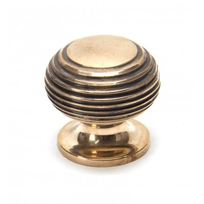 Polished Bronze Beehive Cabinet Knob - Small