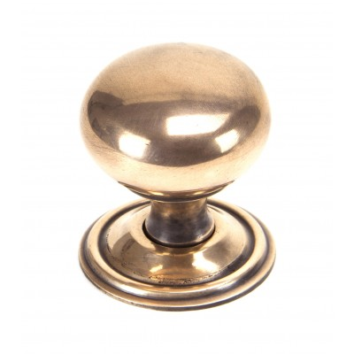 Polished Bronze Mushroom Cabinet Knob - Large