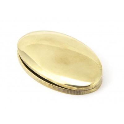 Aged Brass Oval Escutcheon & Cover
