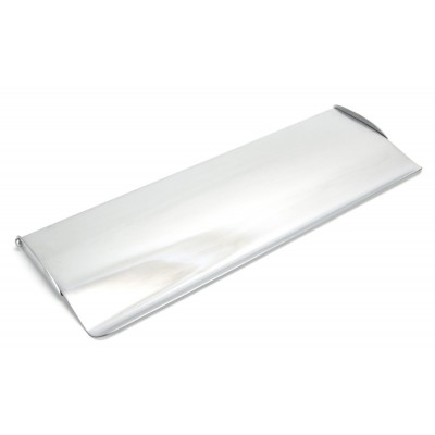 Satin Chrome Large Letter Plate Cover