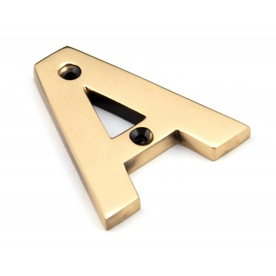 Polished Bronze Letter A