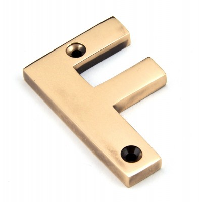 Polished Bronze Letter F