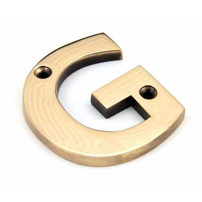 Polished Bronze Letter G