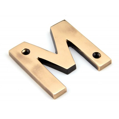 Polished Bronze Letter M