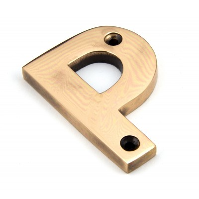 Polished Bronze Letter P