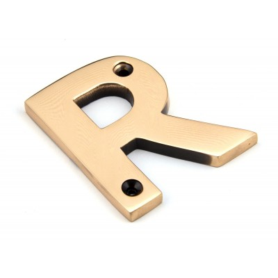 Polished Bronze Letter R