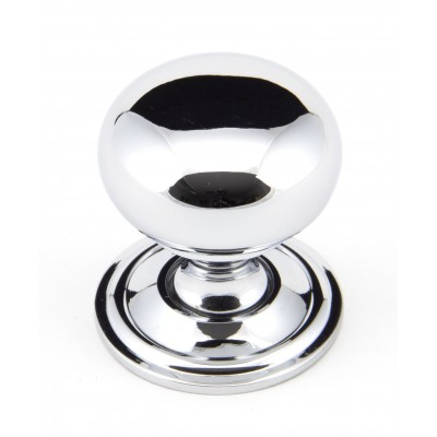 Polished Chrome 32mm Mushroom Cabinet Knob